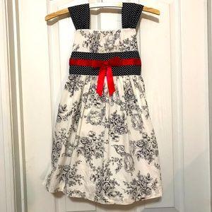 Bonnie Jean dress w/large flowers & polka dots 5